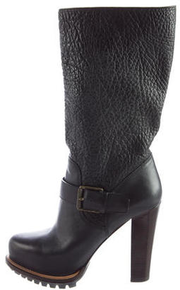 Belstaff Textured Leather Boots $275 thestylecure.com