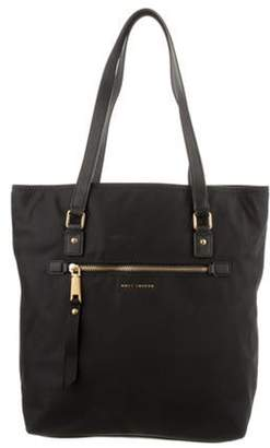 Marc Jacobs Leather-Trimmed Nylon Tote Black Leather-Trimmed Nylon Tote