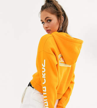 Santa Cruz Woodstock cropped hoodie with arm and back print in orange Exclusive to ASOS