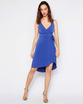 Express Surplice Wrap Midi Dress