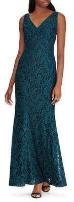 Lauren Ralph Lauren Lace Fit-&-Flare Dress