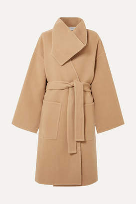 J.W.Anderson Belted Wool And Cashmere-blend Coat - Beige