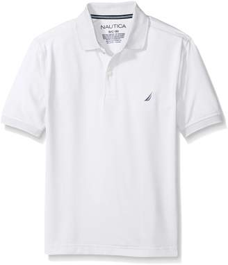 Nautica Big Boys' Short Sleeve Solid Polo