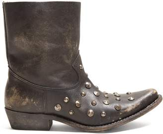 Golden Goose Tribute studded leather ankle boots
