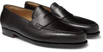 John Lobb Lopez Full-Grain Leather Penny Loafers - Men - Black