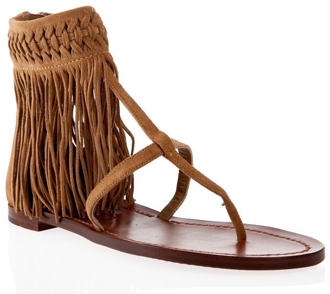 RALPH LAUREN - Fringe detail sandals