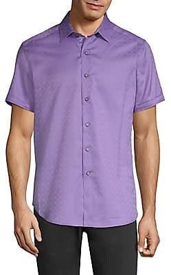Robert Graham Men's Diamente Tonal Print Button-Down Shirt