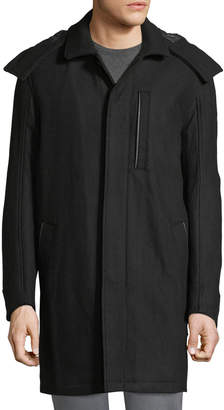 Andrew Marc Boulevard Coat w/ Removable Hood, Black