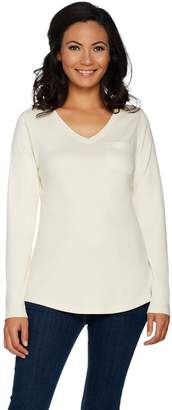 Isaac Mizrahi Live! Essentials Long Sleeve T-shirt with Pocket