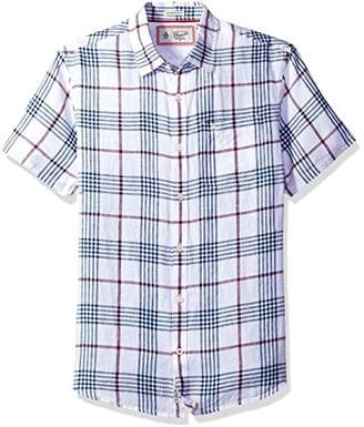 Original Penguin Men's Short Sleeve Linen Plaid
