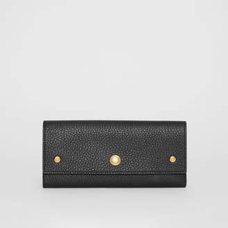 Burberry Grainy Leather Continental Wallet