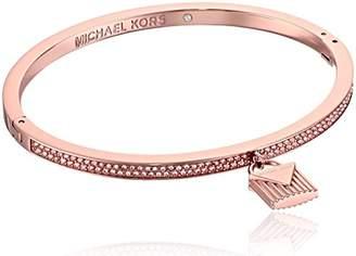 Michael Kors Fashion Logo Love -Tone Hinged Padlock Charm Bracelet