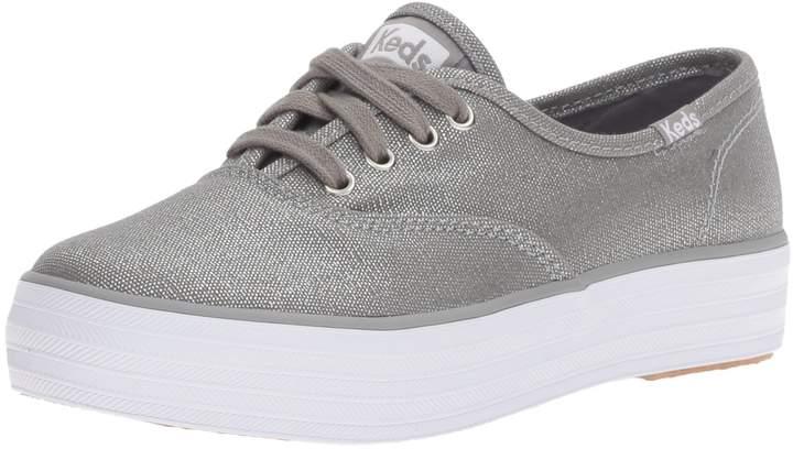 Keds Kids Triple Seasonal Shoes, Silver/Metallic