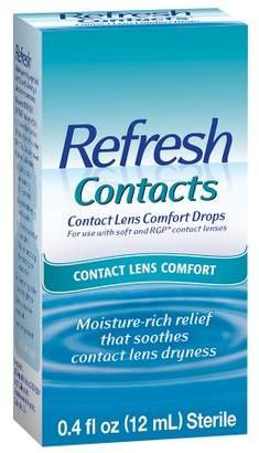 Refresh Contacts Contact Lens Comfort Moisture Drops for Dry Eyes $9.99 thestylecure.com