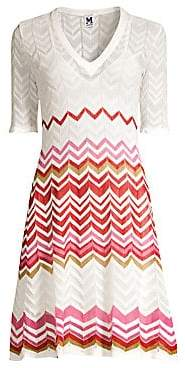 M Missoni Women's Ribbon Wave A-Line Dress