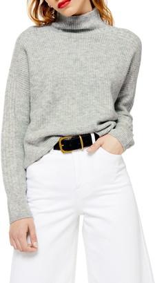 Topshop Funnel Neck Crop Sweater