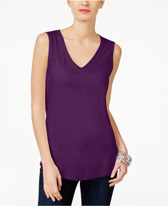 Inc International Concepts V-Neck Tank Top, Only at Macy's $24.50 thestylecure.com