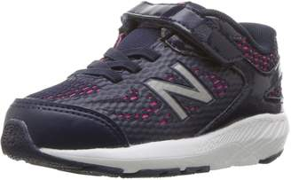 New Balance Girls' 519v1 Hook and Loop Running Shoe