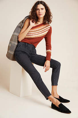 Pilcro and the Letterpress Pilcro Button-Fly Ultra High-Rise Skinny Jeans