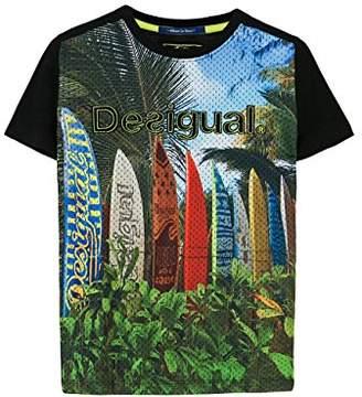 Desigual (デジグアル) - (デシグアル) Desigual Tシャツ 61T36D6 2000 マルチカラー 3/4
