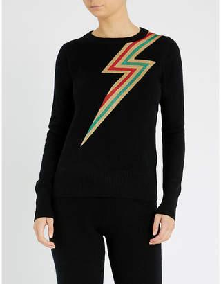 Madeleine Thompson Styx lightning cashmere jumper