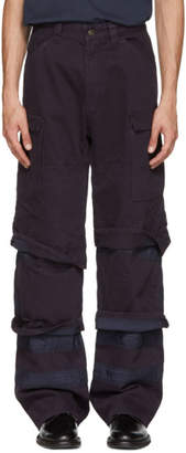 Y/Project Navy Multi-Cuff Trousers