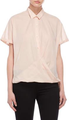BCBGeneration Twisted Hem Short Sleeve Shirt