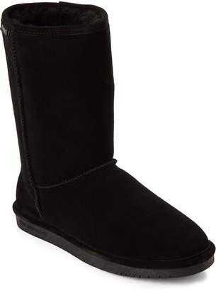 BearPaw Black Emma Real Sheepskin Boots