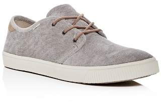 Toms Men's Carlo Corduroy Lace Up Sneakers