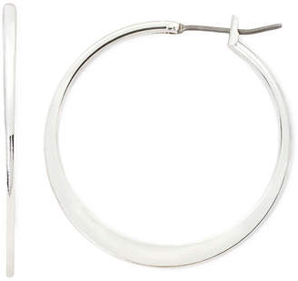Liz Claiborne Silver-Tone Medium Hoop Earrings