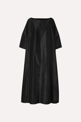 The Row Luanna Silk-taffeta Maxi Dress - Black