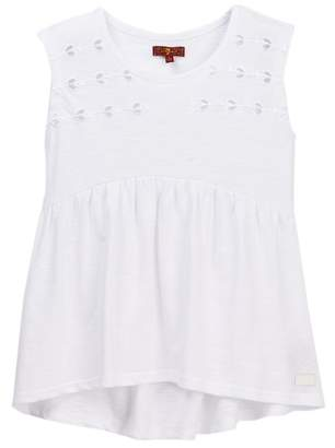 7 For All Mankind Embroidered Tank (Big Girls)
