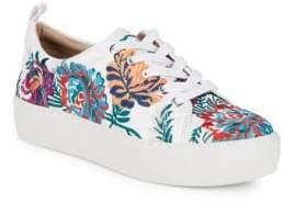 Lux Floral Platform Sneakers