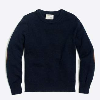 J.Crew Factory Boys' elbow-patch crewneck sweater