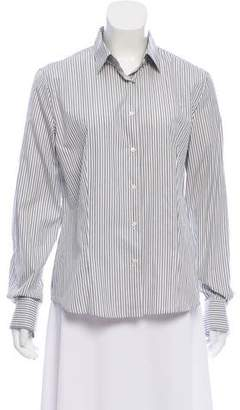 Loro Piana Pinstriped Button-Up Blouse