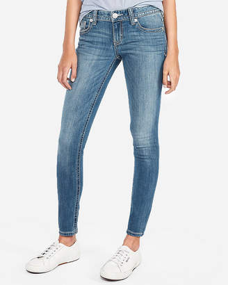 Express Low Rise Thick Stitch Stretch Jean Leggings