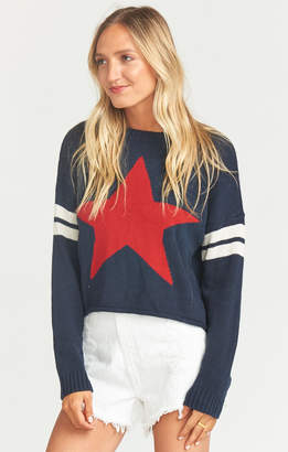 Show Me Your Mumu Cropped Varsity Sweater ~ Lone Star Knit