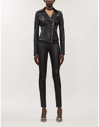 Jitrois Rider asymmetric leather jacket