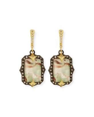 Armenta Old World Emerald-Shaped AquapraseTM Earrings with Diamonds