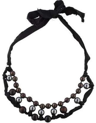 Lanvin Silk & Beaded Strand Necklace