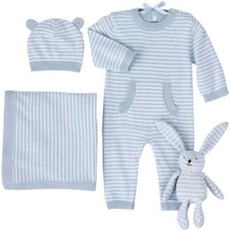 Elegant Baby 4-Piece Striped Gift Bundle Size 3-6 Months