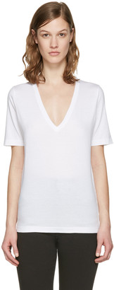 Dsquared2 White V-Neck Renny Fit T-Shirt $180 thestylecure.com