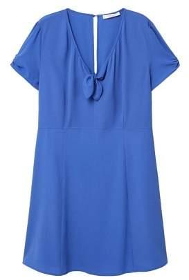 Violeta BY MANGO Flowy bow dress