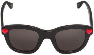 Saint Laurent Heart Embellished Acetate Sunglasses