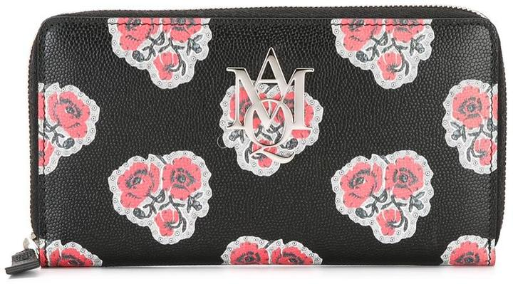 Alexander McQueenAlexander McQueen Insignia poppy print continental wallet