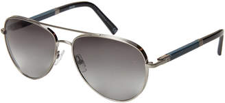 Ermenegildo Zegna EZ0066 Silver-Tone Aviator Sunglasses