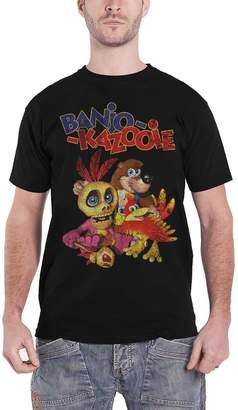Rare Banjo Kazooie T Shirt Distressed Logo New Official Nintendo Mens
