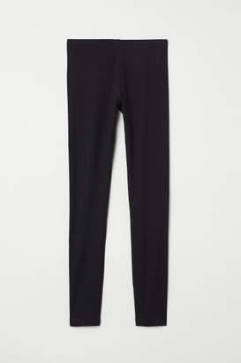 H&M Jersey leggings - Black