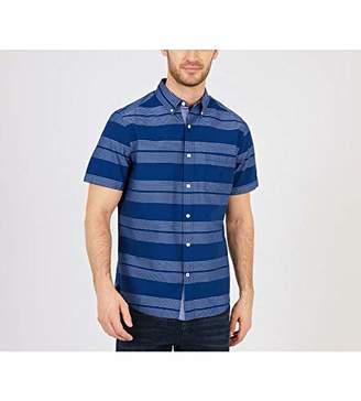 Nautica Men's Short Sleeve Striped Button Down Shirt