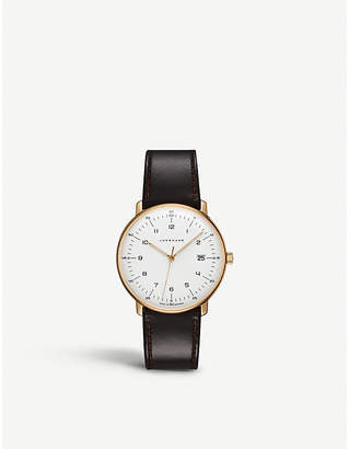 Junghans 041787200 Max Bill stainless steel and leather watch